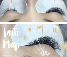 Styling your clients eye is key to achieving the perfect look. Drawing a lash map will help create symmetry as well as speed up application time. Here is how I design my clients eye; I first mark the center of the eye (the pupil) using a eyeliner pencil right below the eyebrow. I then look at the clients eyes and see what shape they are, round, monolid, deep set, downward facing. This client has round eyes and very healthy natural lashes. I then ask the client if they have a particular…