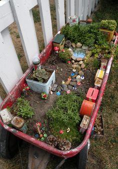Coolest thing! A fairy garden