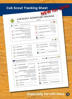 Yesterday I posted 2015 Cub Scout tracking sheets that are meant for LDS dens. Today I'm posting a one page sheet tailored for LDS cubs that is meant to follow one cub scout through his entire Cub Sco