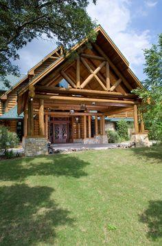 Exteriors by Wisconsin Log Homes - National Design & Build Services - Log, Timber Frame & Hybrid Homes - www.wisconsinloghomes.com