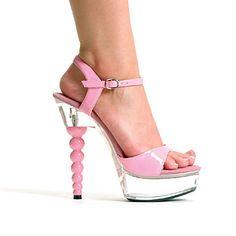 Pink PU Nahka sandaletit 3.5cm Platform 14.5cm Stiletto Heel Sandaalit – USD $ 69.99