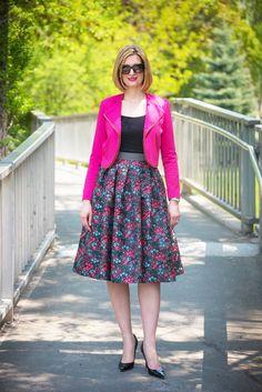 Floral midi skirt, T