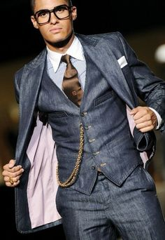 Three piece suit with a little style