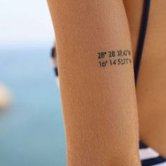 Coordinates #tattoo on Claudia #smalltattoo #littletattoo #life #love #art #girls #fashion #art #tatooart @claudia_fumero