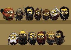 The Hobbit cast, Minon style