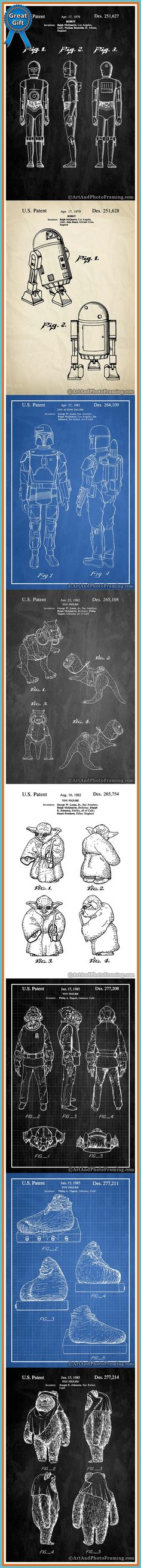 Star Wars Patent Poster Prints make great Christmas gifts for him from ArtAndPhotoFraming