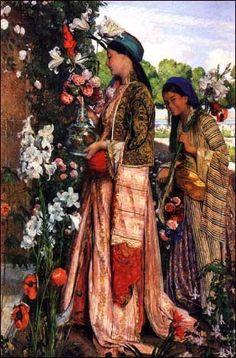 """""""Lilium Auratum""""  - John Frederick Lewis (1871)"""
