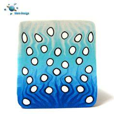 Sky colors polka dot square by Marcia - Mars design, via Flickr
