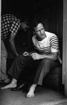 Marlon Brando - 1954 - the beauty of the breton , Tshirt , engineered striped Tshirt