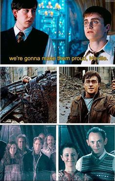 Did you notice how Neville and Harry wore outfits similar to their fathers'?
