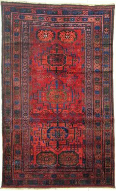 Gochan, Serakhs, Güls Area/City/Country:Nom. Tribal, Sarkhati, Pers. - Türkm. Probable age/Condition:1900 / 4 Size in cm:188 x 118 Very unusual & rarely. A jewel Iranian Rugs, Iranian Art, Persian Carpet, Persian Rug, Carpet Flooring, Rugs On Carpet, Persian Pattern, Magic Carpet, Colorful Furniture