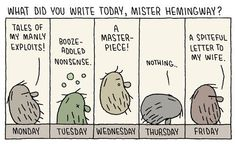 "Tom Gauld's Brilliant Literary Cartoons Blur the Artificial Line Between ""High""…"