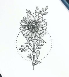 Secrets To Sunflower Drawing Simple Tattoo Ideas 91 - akkrabcom sunflower drawing - Drawing Tips Sunflower Sketches, Sunflower Drawing, Butterfly Drawing, Sunflower Tattoos, Bouquet Of Flowers Drawing, Easy Flower Drawings, Cute Easy Drawings, Pencil Art Drawings, Tattoo Drawings
