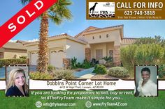 """*  SOLD! """"Dobbins Point Corner Lot Home""""  *  If you are looking for properties to sell, buy or to rent, let """"The Fry Team"""" make it simple for you. CALL 623-748-3818 or visit www.FryTeamAZ.com for more info.  *  #SOLD #Residential #HomeForSale #CornerLot #DobbinsPoint #Laveen #AZ #RealEstate #TheFryTeam #HomeBuying #HomeSelling #WestUSARealty"""
