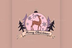 Christmas and New year logo, emblem by Netkoff on Creative Market