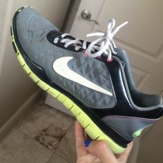 Nike frees TR luxe some discoloration at the tip of the shoe (from black to neon). used. willing to accept lower offers. Nike Shoes Athletic Shoes
