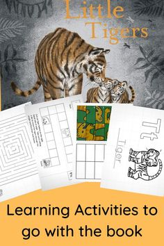 Tiger themed learning ideas to go along with the book Little Tigers by Jo Weaver. Free printable maze, counting game, number puzzle, and letter T coloring page. Educational Activities For Kids, Toddler Activities, Learning Activities, Printable Mazes, Free Printable, Printables, Science Projects For Kids, Stem Learning, School Closures