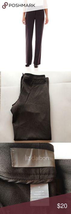 Liz Claiborne Audra flit slacks Brown slacks perfect for work. Liz Claiborne Pants Straight Leg