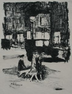 Pierre Bonnard:Lithograph from the printed edition of 225 for Tableaux de Paris, published by Emile-Paul in 1927. This is the frontispiece.Signed in the stone. In good condition. (See Bouvet no:105 page 249) €250 See http://www.thewhitleyartgallery.com/Artists/Prints/Bonnard,-Pierre.aspx
