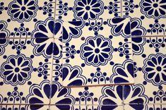 24 Mexican Talavera Tiles.Hand painted 4 X 4 Blue door MexicanTiles