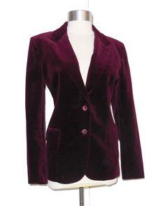 Vintage Velvet Blazer Size 13/14 item #9136 by MercantileRepublic on Etsy https://www.etsy.com/listing/211033075/vintage-velvet-blazer-size-1314-item