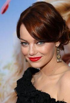 Wonder if I could rock a shade of dark auburn a la Emma Stone?!?