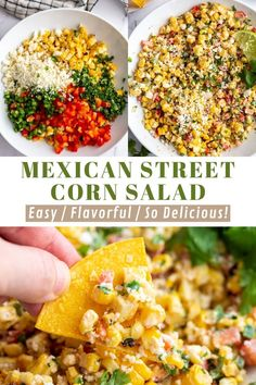 This Mexican Street Corn Salad comes together in one big bowl and is SO simple to make! The perfect summer side dish! Corn Recipes, Side Dish Recipes, Mexican Food Recipes, Sauce Recipes, Corn In The Oven, Cream Corn Casserole, Summer Corn Salad, Grilled Corn Salad, Mexican Street Corn Salad