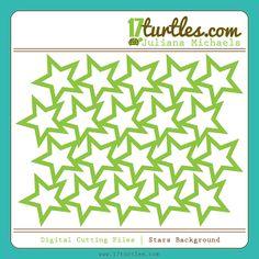 Elle's Studio Sketch And Stars Background Free Cut File