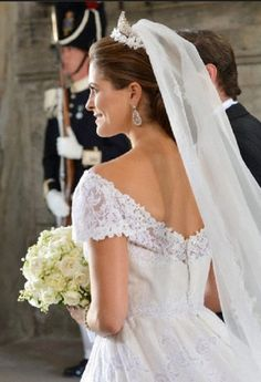 Swedish Princess Madeleine in Stockholm, Sweden after her wedding 08 June 2013 - Valentino dress with a lovely neckline.