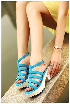 Korean Fashion Rome Style Platform Shoes