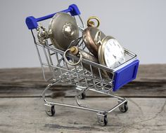 Silver Pocket Watches in Shopping Cart