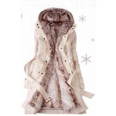 $29.24Fashion V Neck Long Sleeve Zipper Beige Cotton Regular Trench