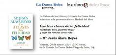 También hoy viernes, La psicóloga Mª Jesús Álava presenta nuevo #libro 'Las tres claves de la felicidad' y estudio al respecto.