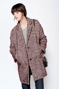 Liria Garnet Coat 55% Cotton 25% Virgin wool 10% Alpaca 10% Polyester - Coat femme - Des Petits Hauts 2