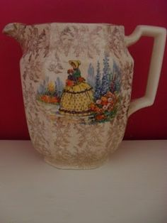 crinoline lady jug. and a whole collection of different Crinoline lady china