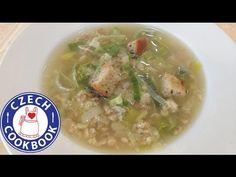 Czech Cookbook - Video Recipes in English - US Measurements - US Ingredients | Leek Soup Recipe – Pórková polévka