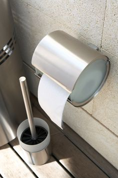 WC papírtartó / WC kefe tartó ** Toilet paper holder, with wall attachment, with mounting-kit / toilet brush