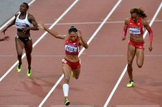 Allyson Felix, gold medalist women's 200-meter. 21.88 seconds.
