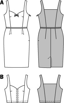Trägerkleid Corsage (Sweetheart dress) burda