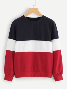 To find out about the Plus Colorblock Pullover at SHEIN, part of our latest Plus Size Sweatshirt ready to shop online today! Printed Sweatshirts, Hooded Sweatshirts, Hoodies, Sweat Shirt, Navy Fabric, Cropped Hoodie, Fashion News, Plus Size, Sewing