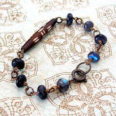 Bohemian bracelet rustic gemstone jewelry beadwork hippie boho wire wrapped gemstone bracelet Bohemian style labradorite bracelet on Etsy, $42.00