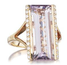 Baguette    Baguette Rose de France & Diamond Ring! Available at Houston Jewelry!