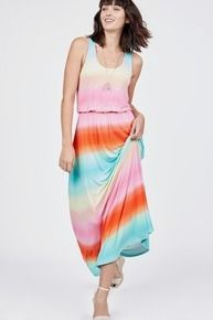e10c08179871 Rainbow Maxi Dress by Chelsea & Theodore - Rent Clothes with. Rent  ClothesLe ToteLatest ...