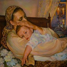 beautiful paintings of mothers and children - Google Search