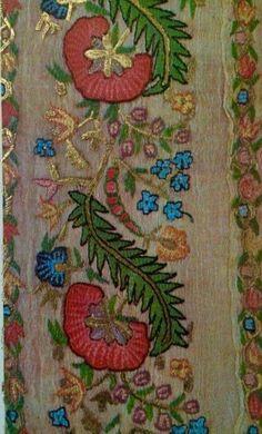 Neşe'nin gözdeleri Jacobean Embroidery, Embroidery Sampler, Hand Embroidery Patterns, Vintage Embroidery, Embroidery Applique, Embroidery Stitches, Embroidery Suits Design, Embroidery Designs, Mood Colors