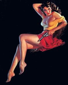 "art for ""The Outlaw"" by Alberto Vargas 1940's"