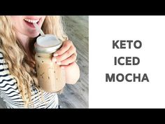 Keto Iced Mocha Recipe - a low carb creamy chocolate coffee drink that is only 6 carbs! Made in your blender! Iced Mocha Coffee, Chocolate Coffee, Iced Mocha Recipe, Low Carb Starbucks, Grain Free, Dairy Free, Gluten Free, Coffee Works, Homemade Coffee Creamer