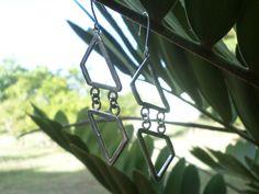Sterling Silver Geometric  Earrings 100 by MaroonedJewelry on Etsy