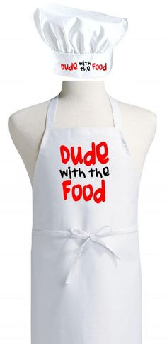 These cooking aprons and hats will keep you clean in style!  This set is perfect for men that cook and those that are learning!    Great For The