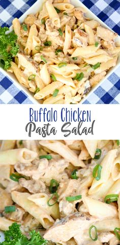 Tailgating Buffalo Chicken Pasta Salad Buffalo Chicken Pasta Salad for Victory! Creamy, spicy and full of flavor, this cold pasta salad is a real favorite for gameday or tailgating. Need new tailgating recipes or gameday recipes? This one is a keeper! Cold Pasta Recipes, Chicken Pasta Salad Recipes, Easy Pasta Salad Recipe, Cold Pasta Salads, Cold Chicken Recipes, Summer Pasta Salad, Pasta Dishes, Food Dishes, Buffalo Chicken Pasta Salad